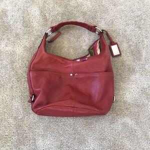 Red Tignanello Hobo bag